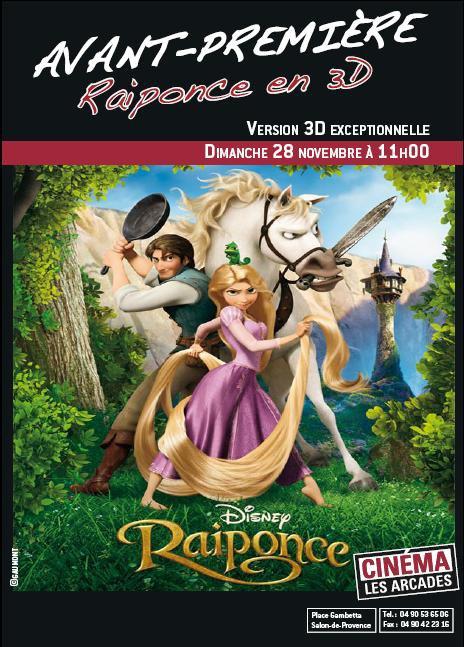 Raiponce en avant premi re salon de provence - Cinema les arcades salon de provence tarif ...