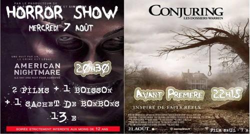 Soir e horror show de salon de provence the conjuring en for Cinema les arcades salon de provence